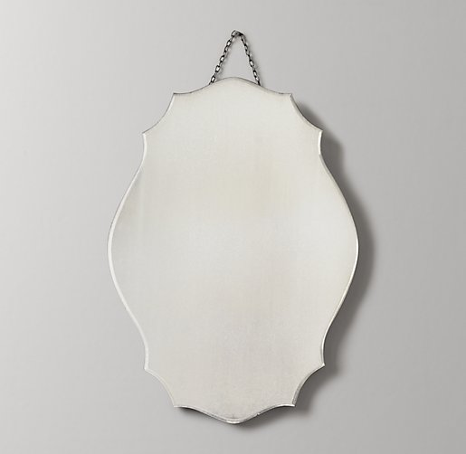 Distressed Wall Mirror - Oval