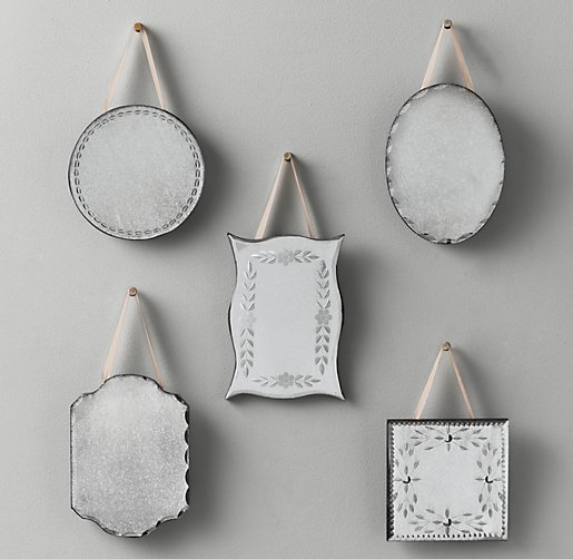 Mini Distressed Wall Mirrors