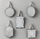 Mini Distressed Wall Mirrors Set of 5