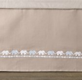 Embroidered Elephant Crib Skirt