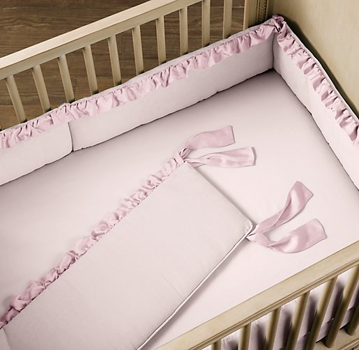 Washed Velvet Crib Bumper