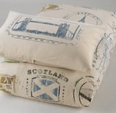 Vintage Passport Stamp Sham