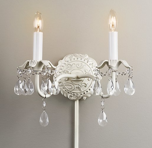 Brocade Double Sconce