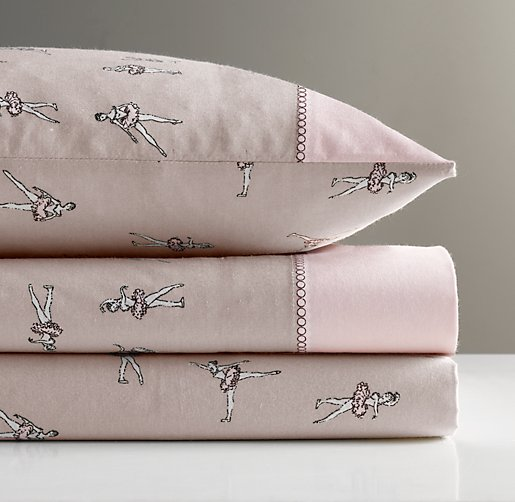 European Vintage Ballerina Toddler Pillowcase