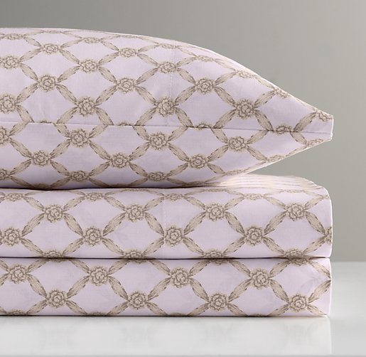 European Rosette Lattice Crib Fitted Sheet