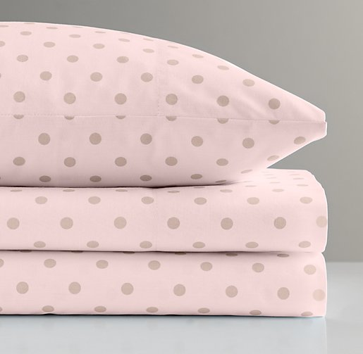European Pin Dot Crib Fitted Sheet