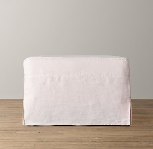 Demi Sloped Arm Ottoman with Slipcover