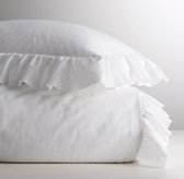 Frayed Ruffle Duvet Cover