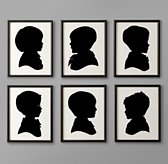 Hand-Cut Children's Silhouette Art