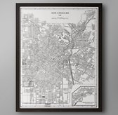 1900's Lithograph Map – Los Angeles