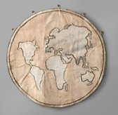 World Map Recycled Canvas Tarp