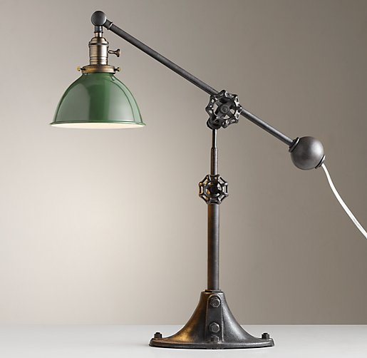 Industrial Era Task Lamp Green