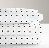 italian contrast dot toddler pillowcase