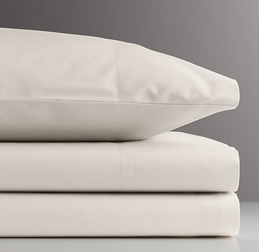 European Vintage-Washed Percale Toddler Pillowcase