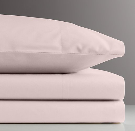 European Vintage-Washed Percale Standard Pillowcase
