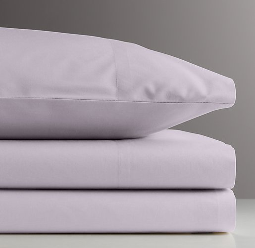 European Vintage-Washed Percale Crib Fitted Sheet