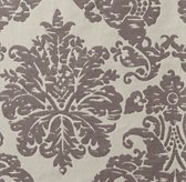 European Vintage-Washed Damask Matelassé Bedding Swatch