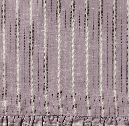 Vintage-Washed Belgian Linen Stripe Bedding Swatch