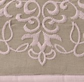 European Embroidered Trellis Bedding Swatch