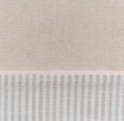 European Flax Stripe Bedding Swatch