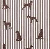 European Dog Silhouette Bedding Swatch