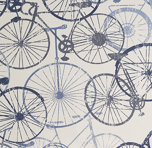 Vintage Bicycle Bedding Swatch