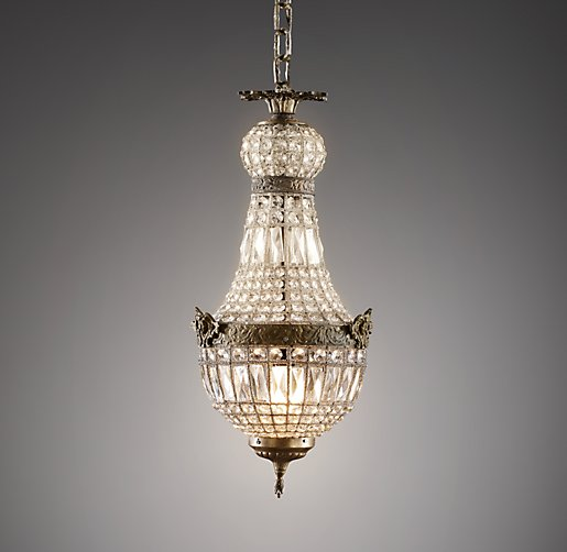 French Regency Small Crystal Pendant