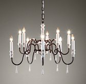 Lutèce Chandelier Distressed White
