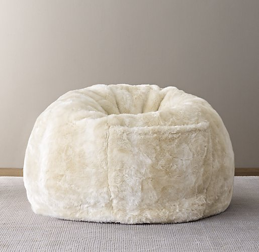 Tremendous Bean Bag Faux Fur Cover Large Faux Fur Beanbag Bean Bag Machost Co Dining Chair Design Ideas Machostcouk