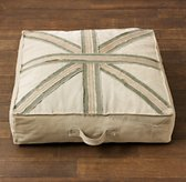 Union Jack Recycled Canvas Floor Pillow