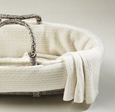 Cable Knit Cashmere Moses Basket Bedding