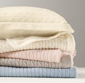 Cable Knit Cashmere Stroller Blanket & Pillow Set