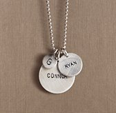 Sterling Silver Personalized Disc