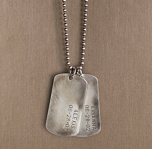 Sterling Silver Personalized Dog Tag