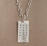 Sterling Silver Personalized Tag Necklace