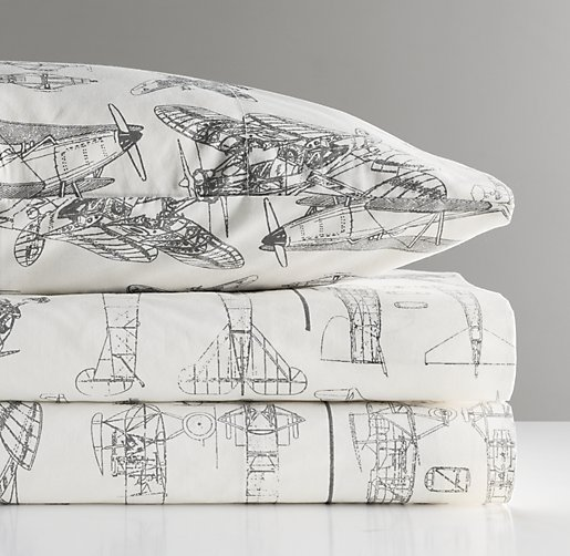 European Vintage Airplane Blueprint Sheet Set | Sheet Sets ...