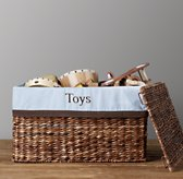 Chocolate Bordered Seagrass Closed Toy Basket Liners