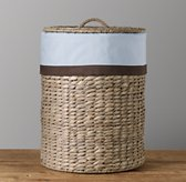 Chocolate Bordered Seagrass Hamper Liner