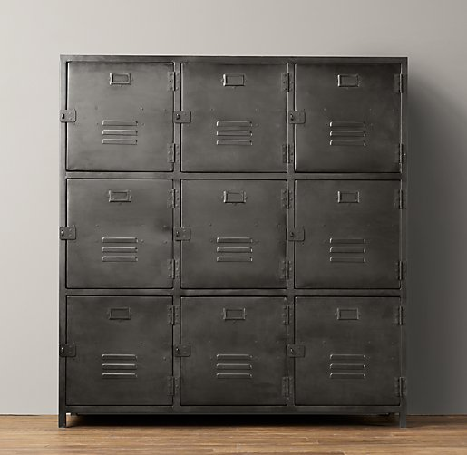 Vintage Locker 9-Door Cabinet