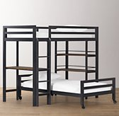 Industrial Loft Study Bunk Bed