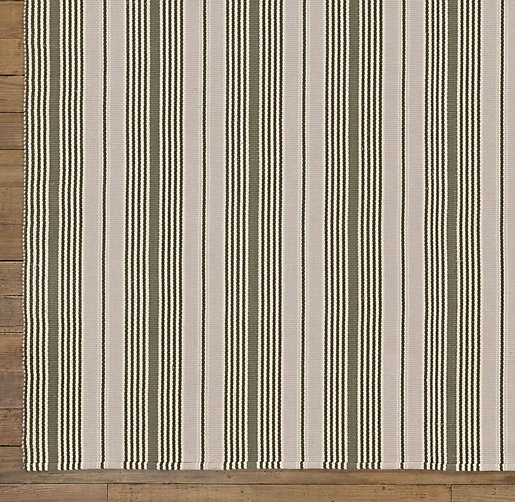 French Stripe Dhurrie Rug