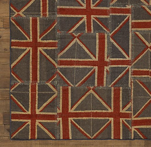 Union Jack Patchwork Kilim Rug Swatch