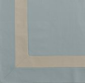 Appliquéd Frame Cotton Canvas Drapery Swatch