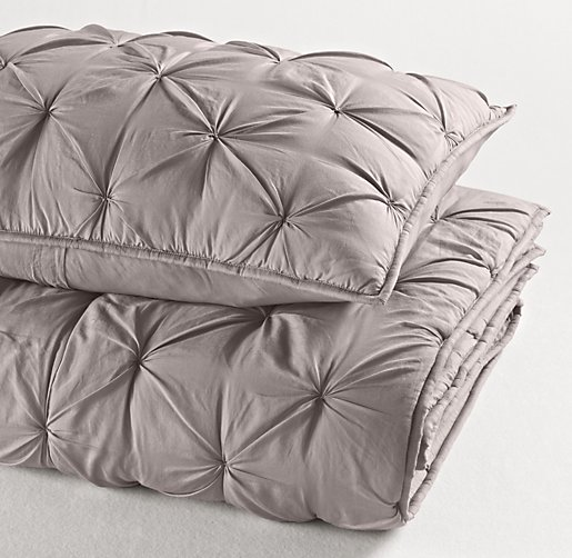 Hand-Tufted Cotton-Silk Sham