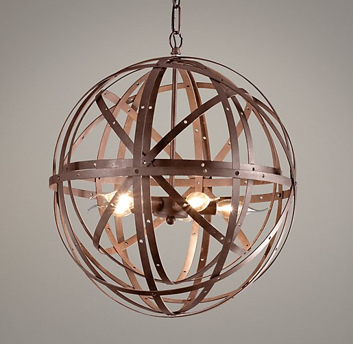 Orbital Sphere Small Pendant Rust