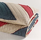 Vintage-Washed Union Jack Quilt