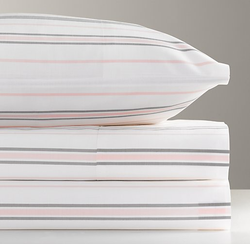 European Heirloom Stripe Standard Pillowcase