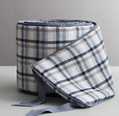 Washed Linen Plaid Bumper