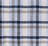 Washed Linen Plaid Bedding Swatch