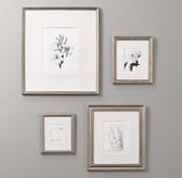 Antiqued Pewter Wood Frames